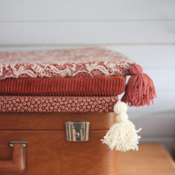 DIY couture coussin banquette